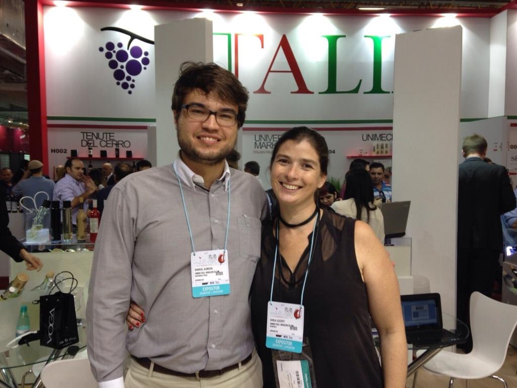 Gabriel Almeida con Carla Luzzati Sidi