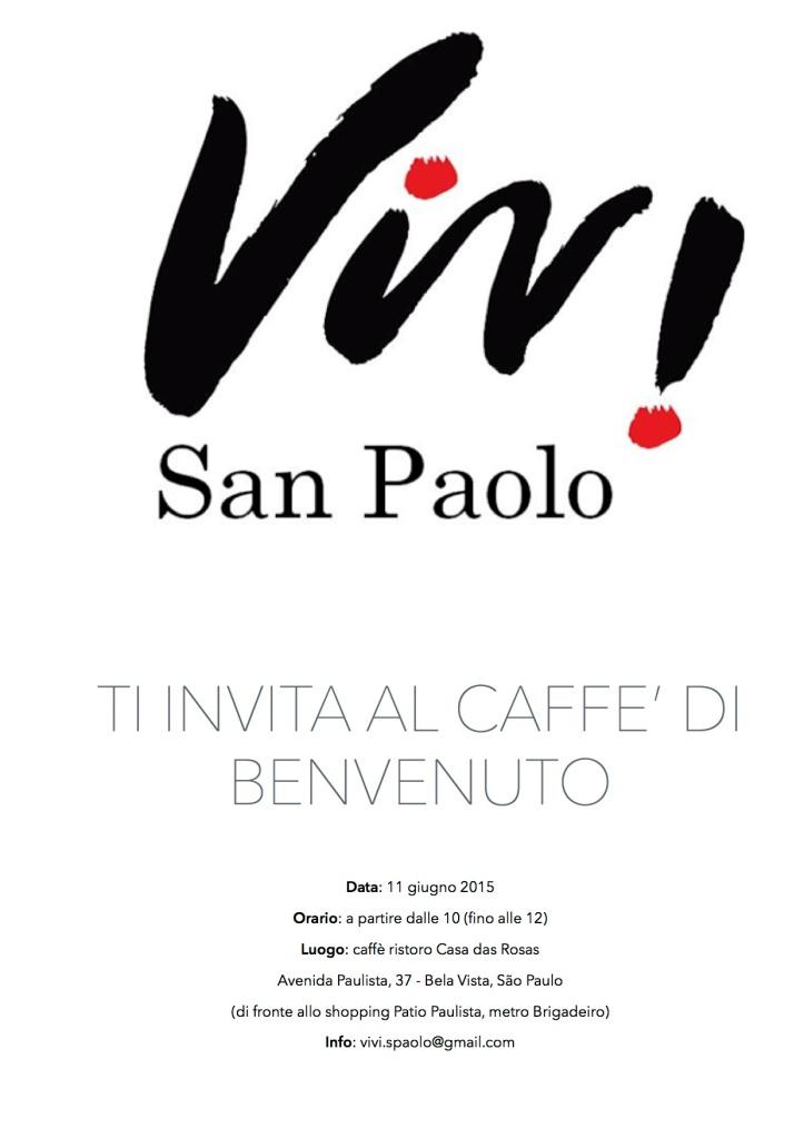 invito caffe di benvenuto