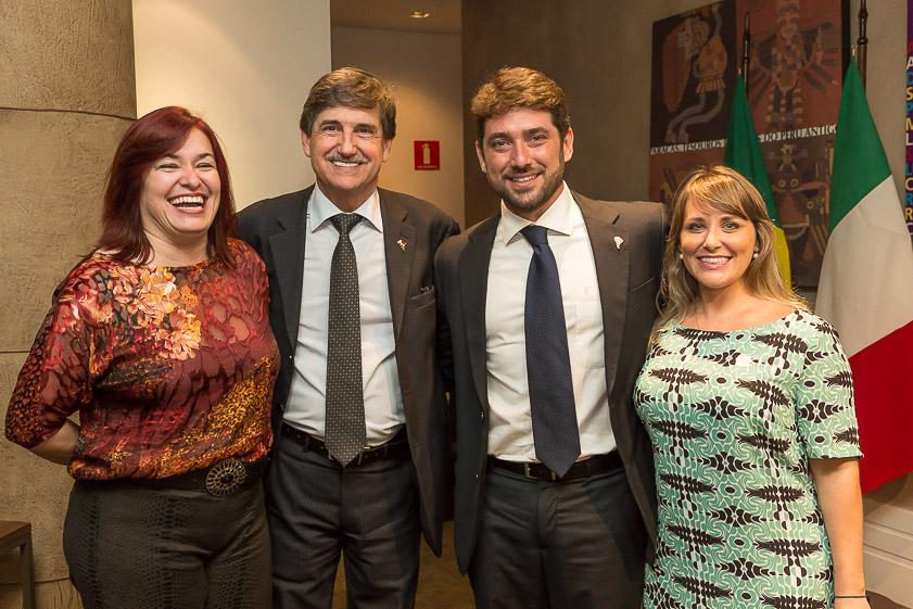 Fausto Longo con Sheila Brabo e la coppia Beghini