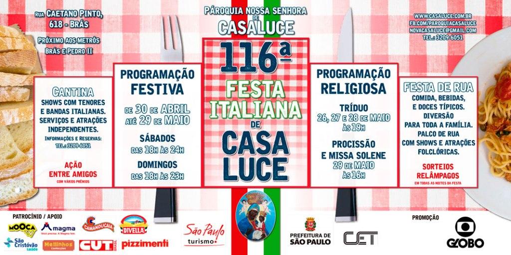 festa italiana de Casa Luce